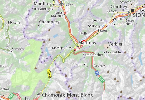Mapa Plano Martigny-Croix