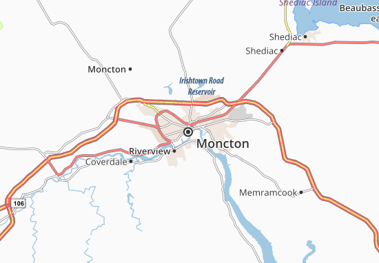 Moncton Map