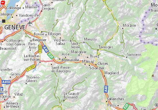 Marignier Map