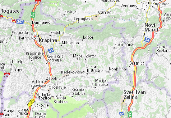 Carte-Plan Zlatar