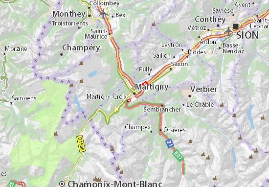Mapa Plano Martigny
