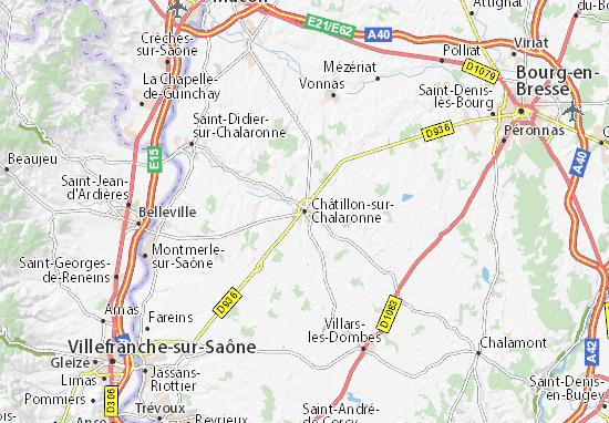 Karte Stadtplan Châtillon-sur-Chalaronne