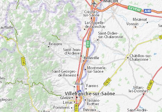Map Of Saint Jean D Ardieres Michelin Saint Jean D Ardieres Map
