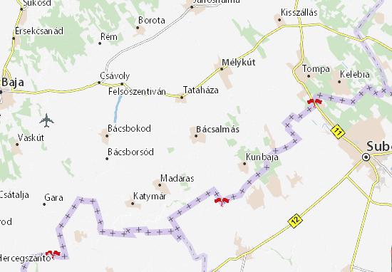 Mapa Plano Bácsalmás