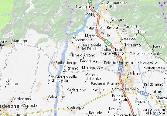 Rive d'Arcano Map