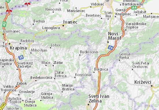 Mapas-Planos Budinščina