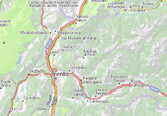 Baselga di Pinè Map