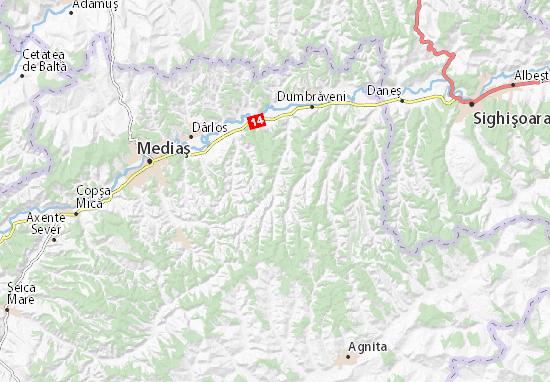 Cartina Dettagliata Romania.Mappa Michelin Biertan Pinatina Di Biertan Viamichelin