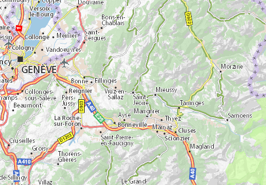 Saint-Jeoire Map