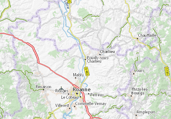 Pouilly-sous-Charlieu Map