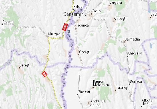 Goteşti Map