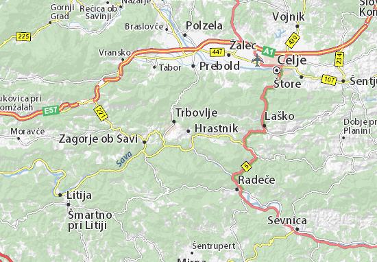 Hrastnik Map