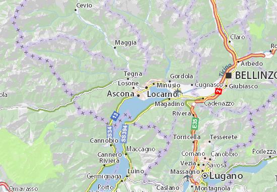 Carte-Plan Ascona