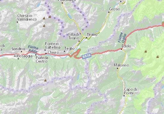 Cartina Lombardia Sondrio.Mappa Michelin Passo Dell Aprica Pinatina Di Passo Dell Aprica Viamichelin