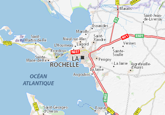 Map of La Rochelle Michelin La Rochelle map ViaMichelin – Map Of La Tourist Attractions