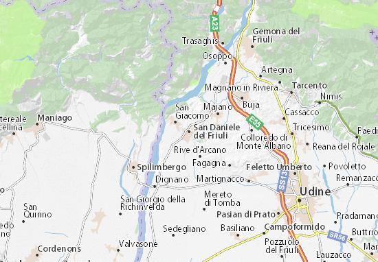 Karte Stadtplan San Daniele del Friuli