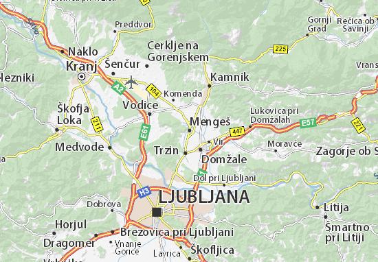 Mengeš Map