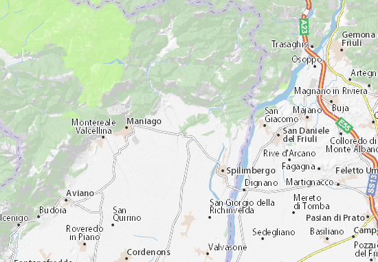 Karte Stadtplan Sequals