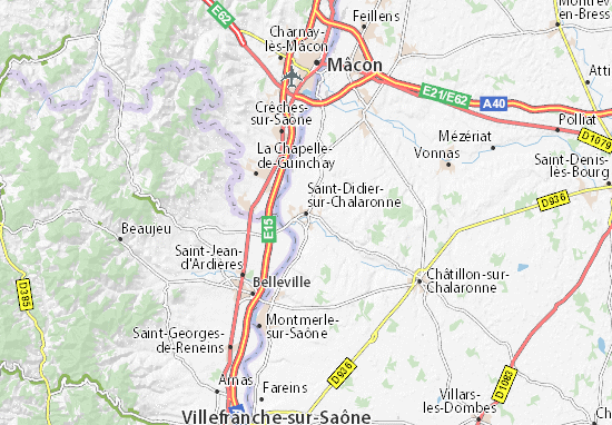 Mapas-Planos Saint-Didier-sur-Chalaronne