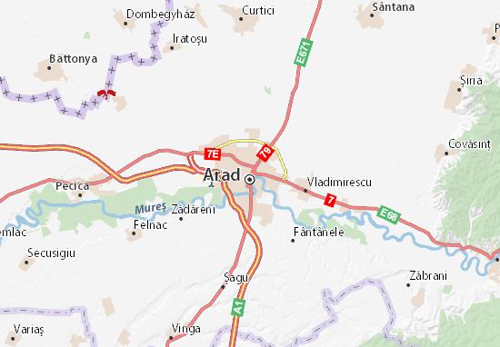 Karte Stadtplan Arad
