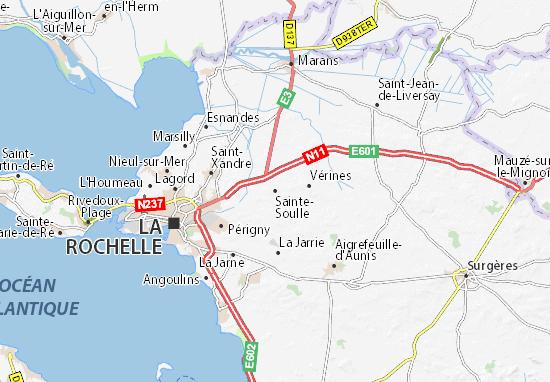 Mapa Plano Sainte-Soulle
