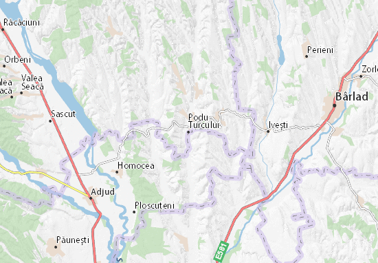Podu Turcului Map