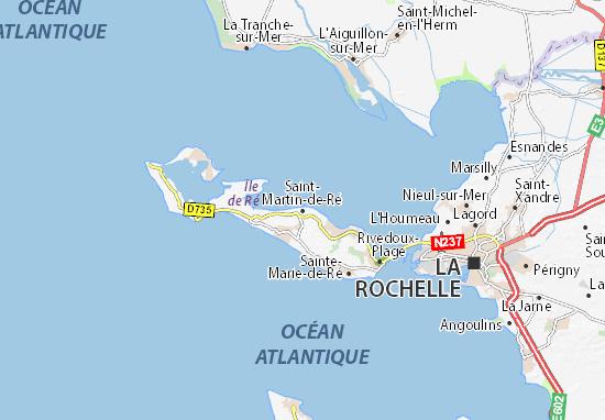 Kaart Plattegrond Saint-Martin-de-Ré