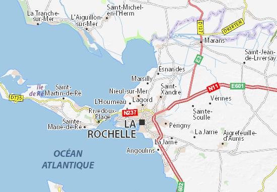 Carte-Plan Nieul-sur-Mer