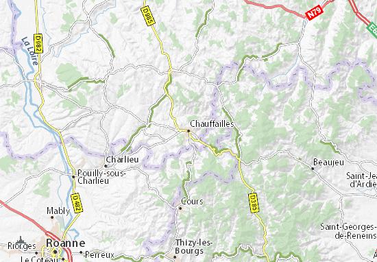 Kaart Plattegrond Chauffailles