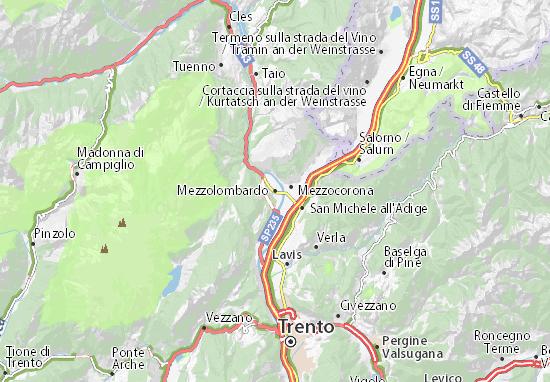 Mezzolombardo Map