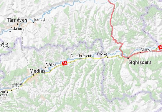 Kaart Plattegrond Dumbrăveni