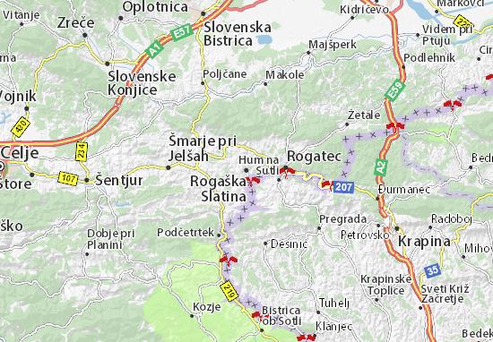 Mapa Plano Rogaška Slatina