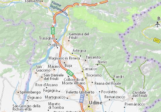 Karte Stadtplan Magnano in Riviera