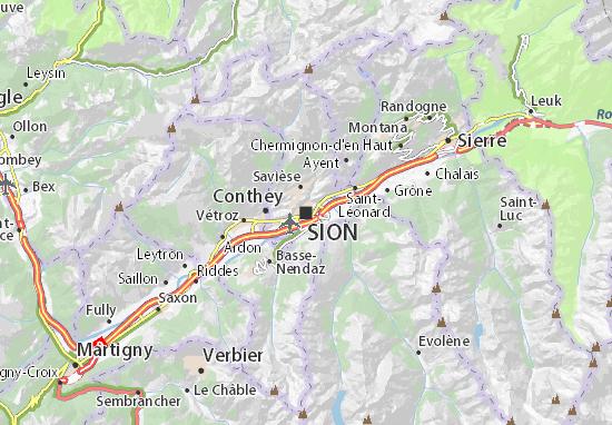 Carte-Plan Sion