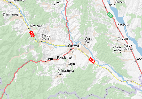 Oneşti Map