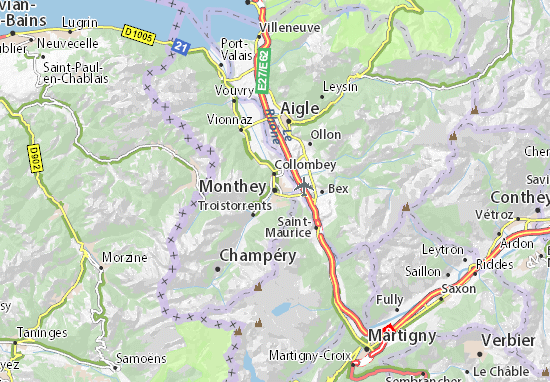 Carte-Plan Monthey