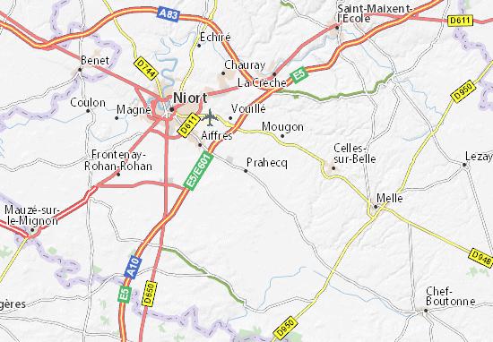 Kaart Plattegrond Prahecq