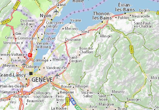 Map Of Yvoire France.Bons En Chablais Map Detailed Maps For The City Of Bons En Chablais