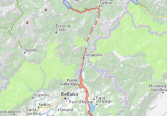 Mapa Plano Longarone