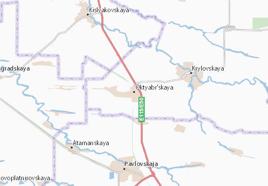 Carte-Plan Oktyabr'skaya