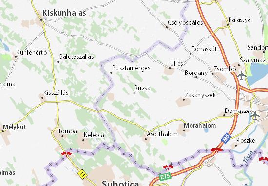 Kaart Plattegrond Ruzsa