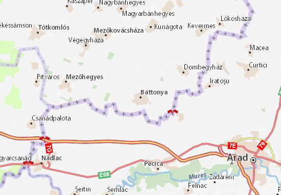 Mapa Plano Battonya