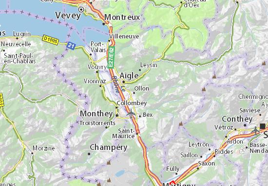 Ollon Map