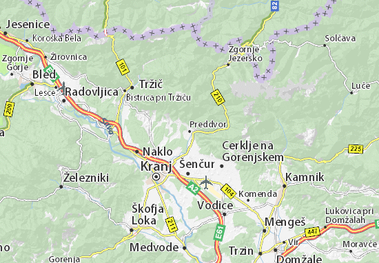 Preddvor Map