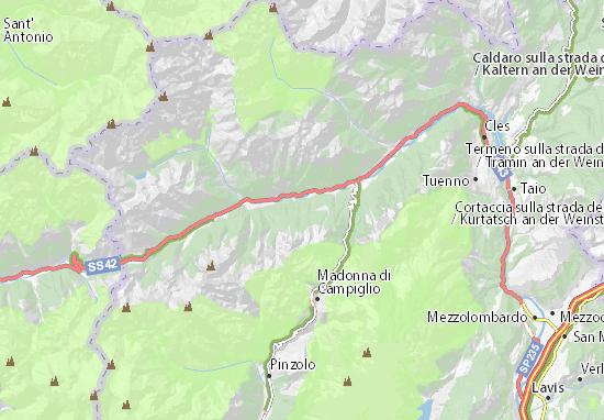 Cartina 1400.Mappa Marilleva Cartina Marilleva Viamichelin