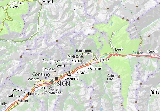 Crans-sur-Sierre Map: Detailed maps for the city of Crans-sur-Sierre ...