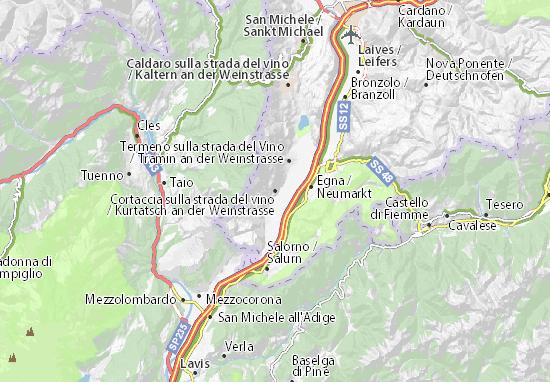 Kurtatsch an der Weinstrasse Map