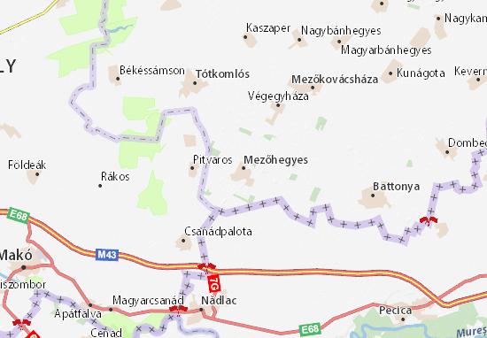 Mezőhegyes Map