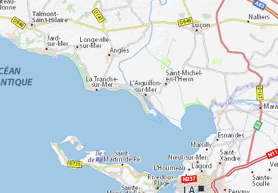 la faute sur mer carte Map of La Faute sur Mer   Michelin La Faute sur Mer map   ViaMichelin