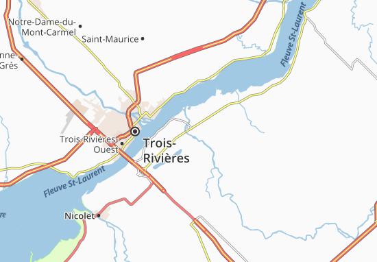 Karte Stadtplan Bécancour